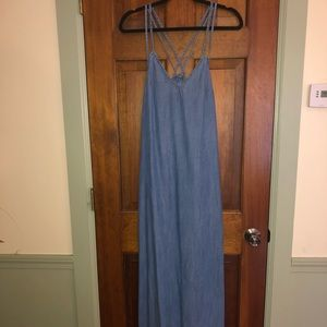 GAP maxi denim dress
